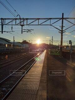 12/21 友部駅2番線にて 石岡寄りの写真・画像素材[3988727]