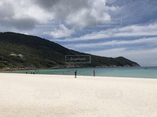 南の島のプライベートビーチの写真・画像素材[3680336]