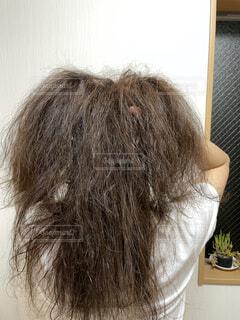 ダメージヘアに悩む女性の写真・画像素材[4933961]