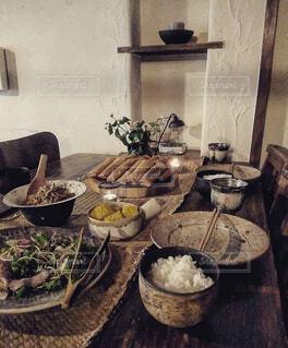 ある日の晩餐の写真・画像素材[3700531]
