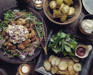 ある日晩餐の写真・画像素材[3700530]