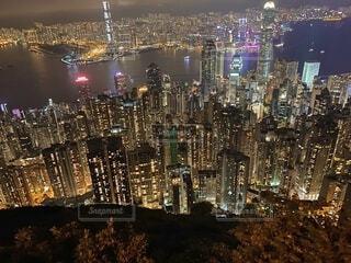 香港の夜の写真・画像素材[3686355]