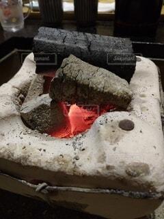 炭火の写真・画像素材[3698972]
