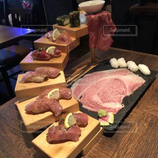 肉の階段の写真・画像素材[3690015]