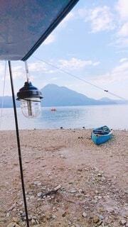 湖畔キャンプの写真・画像素材[3697414]