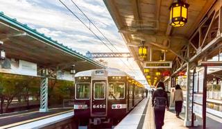 列車が駅に引いての写真・画像素材[1606472]