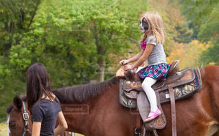 馬に乗る女性の写真・画像素材[1606551]