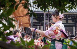 京都三十三間堂の通し矢の写真・画像素材[1791838]