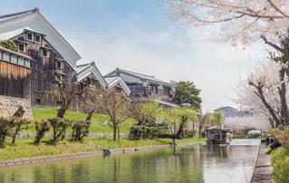 京都伏見の十石舟と月桂冠大倉記念館の写真・画像素材[1805906]