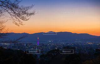 清水寺から見た京都市の夕暮れの写真・画像素材[1876852]