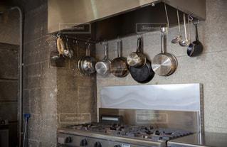 レストランの厨房の写真・画像素材[3201442]