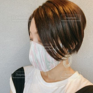 ファッションマスクの写真・画像素材[3695396]