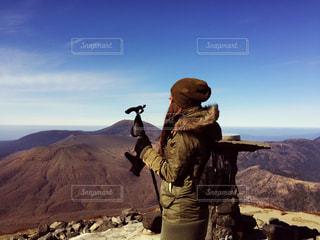 山頂にての写真・画像素材[1199614]