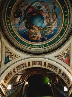 V&A美術館の壁画の写真・画像素材[3693648]