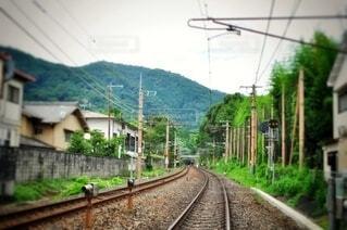 田舎の鉄道の写真・画像素材[3693884]