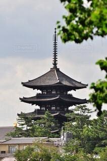 奈良の五重塔の写真・画像素材[3693888]