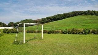 サッカーゴールの写真・画像素材[3712273]