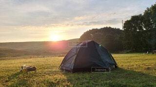 草原のテントの写真・画像素材[3732497]