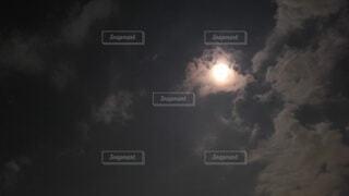 月の輝きの写真・画像素材[3762667]