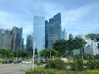 高い建物がある都市の眺めの写真・画像素材[4088630]