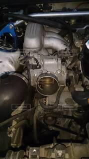 エンジンのクローズアップの写真・画像素材[3702021]