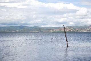 大きな水域の写真・画像素材[3701928]