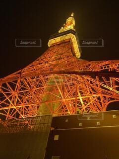 冬の東京タワーの写真・画像素材[3704648]