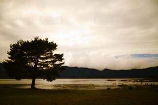 Lake Motosu of recollectionの写真・画像素材[3721011]