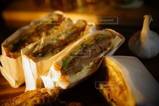 Soy meat cutlet sandwichの写真・画像素材[3721027]