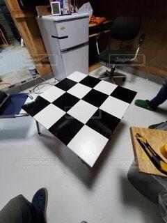 テーブル作成の写真・画像素材[3708675]