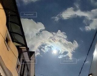 空の雲のクローズアップの写真・画像素材[3741574]