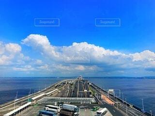 海の橋の写真・画像素材[3713029]