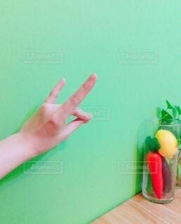 野菜ときつねの写真・画像素材[3717789]
