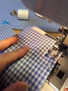 ミシンで裁縫 学校準備の写真・画像素材[4090529]