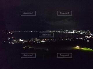 諏訪湖の夜景 ①の写真・画像素材[3718552]