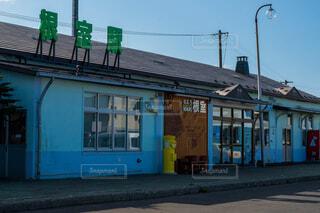 JR根室駅の正面玄関の風景の写真・画像素材[3849772]