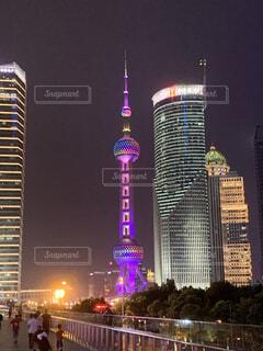 東方明珠塔(東方テレビタワー)の写真・画像素材[3743229]