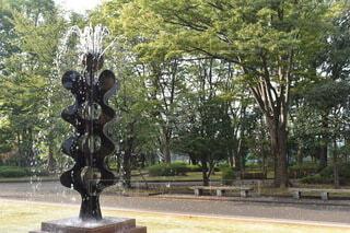 公園の噴水の写真・画像素材[3822715]