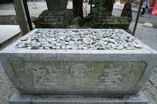 名前石の写真・画像素材[3739382]