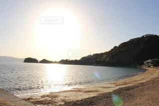 光と砂浜の写真・画像素材[3748298]