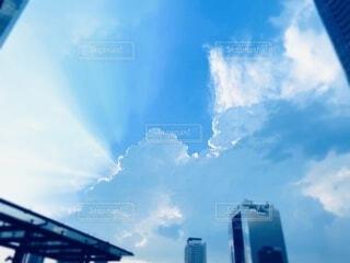 空の雲のクローズアップの写真・画像素材[3742200]