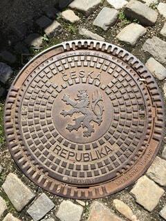 チェコのマンホールの写真・画像素材[3746239]