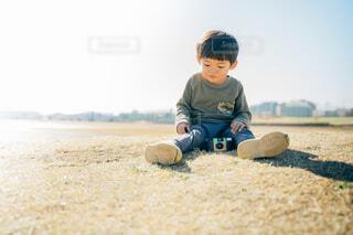 小さなカメラマンの写真・画像素材[4006812]