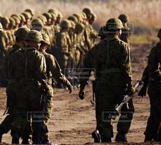 陸上自衛隊  普通科隊員の写真・画像素材[3758055]