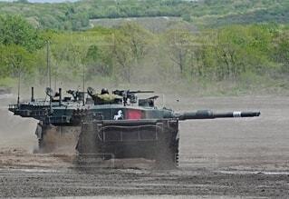 陸上自衛隊 90式戦車の写真・画像素材[3758075]