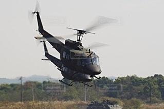 陸上自衛隊 ヘリコプター UH-1の写真・画像素材[3758134]