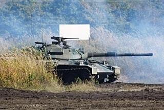 陸上自衛隊 74式戦車の写真・画像素材[3758142]