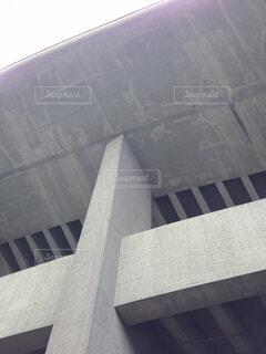 コンクリートの壁と庇の写真・画像素材[4769413]