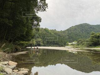 山と川の写真・画像素材[3764116]