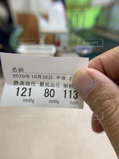 血圧結果の写真・画像素材[3824621]
